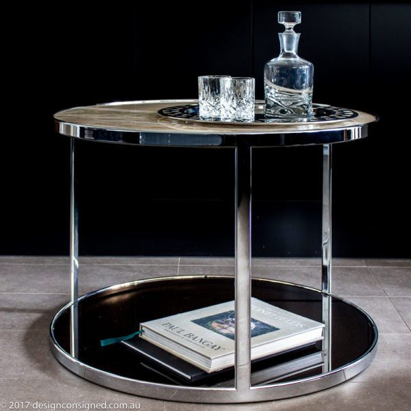 Clever Minotti Huber Side Table Design Consigned Medium
