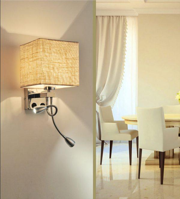 Clever Modern Led Wall Light Bed Lamp Reading Light Hotel Bedroom Medium