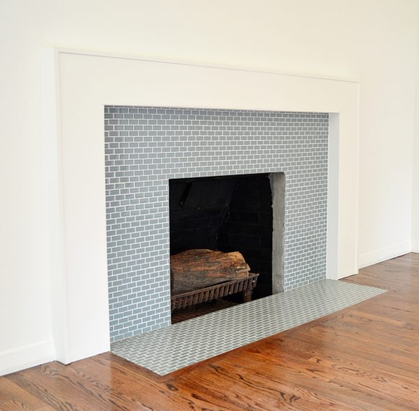 Clever Mosaic Tile Fireplace Surround Ggregorio Medium