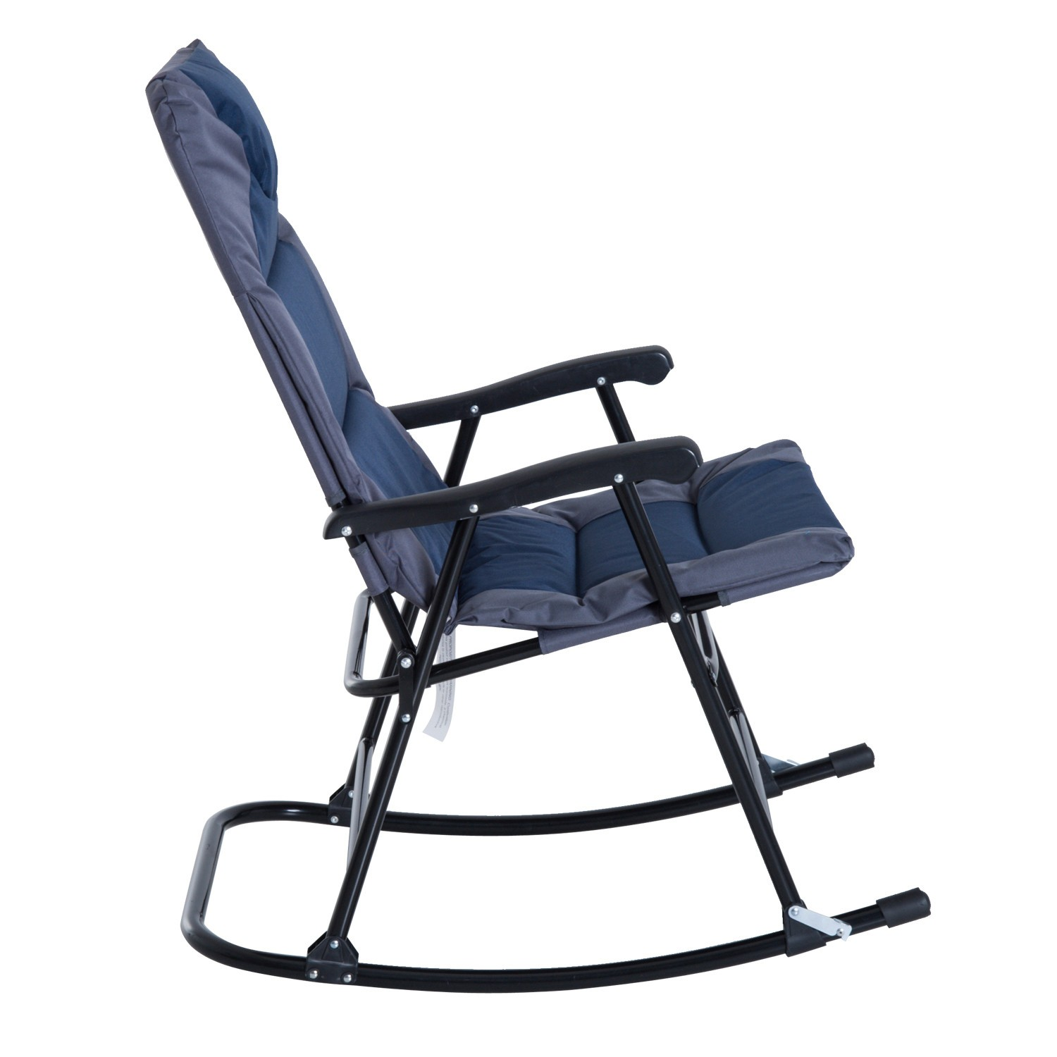 clever outsunny 3 piece outdoor folding rocking chair and table