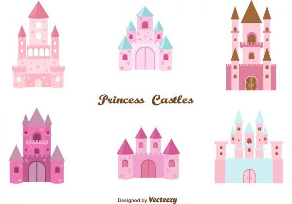 Clever Princess Castle Vector Set Download Free Vector Art Medium