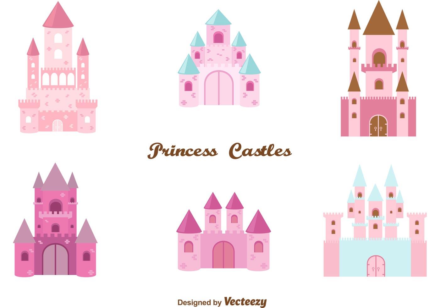 clever princess castle vector set download free vector art