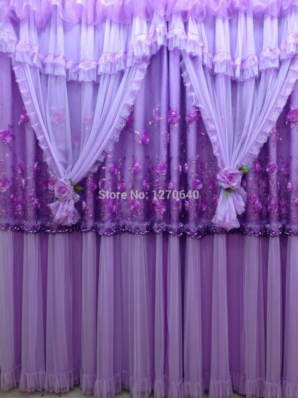 Clever Purple Curtains For Bedroom Stylish Purple Curtain Scarf Medium