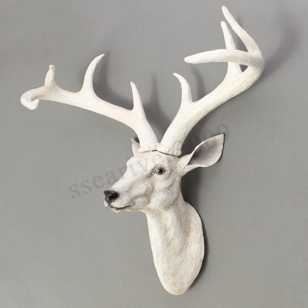 Clever Resin Deer Head Antler Wall Mount Ornament Mantel Staging Medium