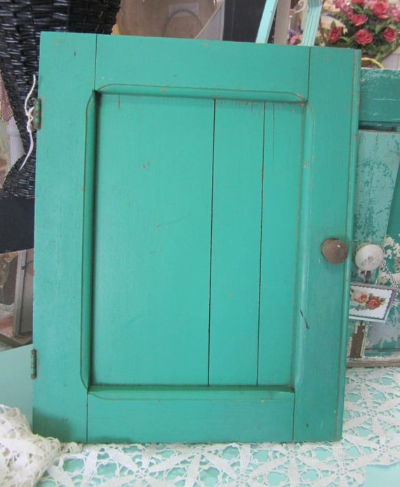 Clever Salvage Painted Cabinet Door Vintage Architectural Salvage Medium