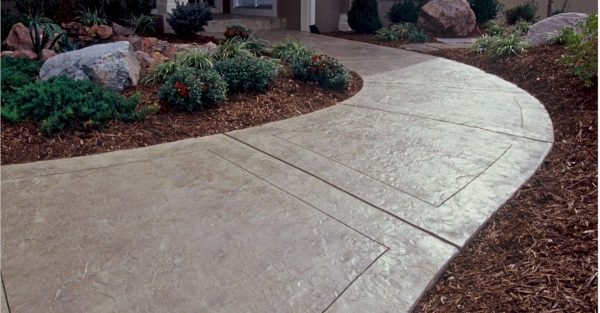Clever Stamped Concrete Designs In Perfect Finishing  Home Ideas Medium