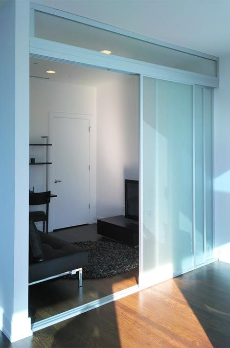 Clever Translucent Sliding Doors Create Two Rooms One With Light Medium