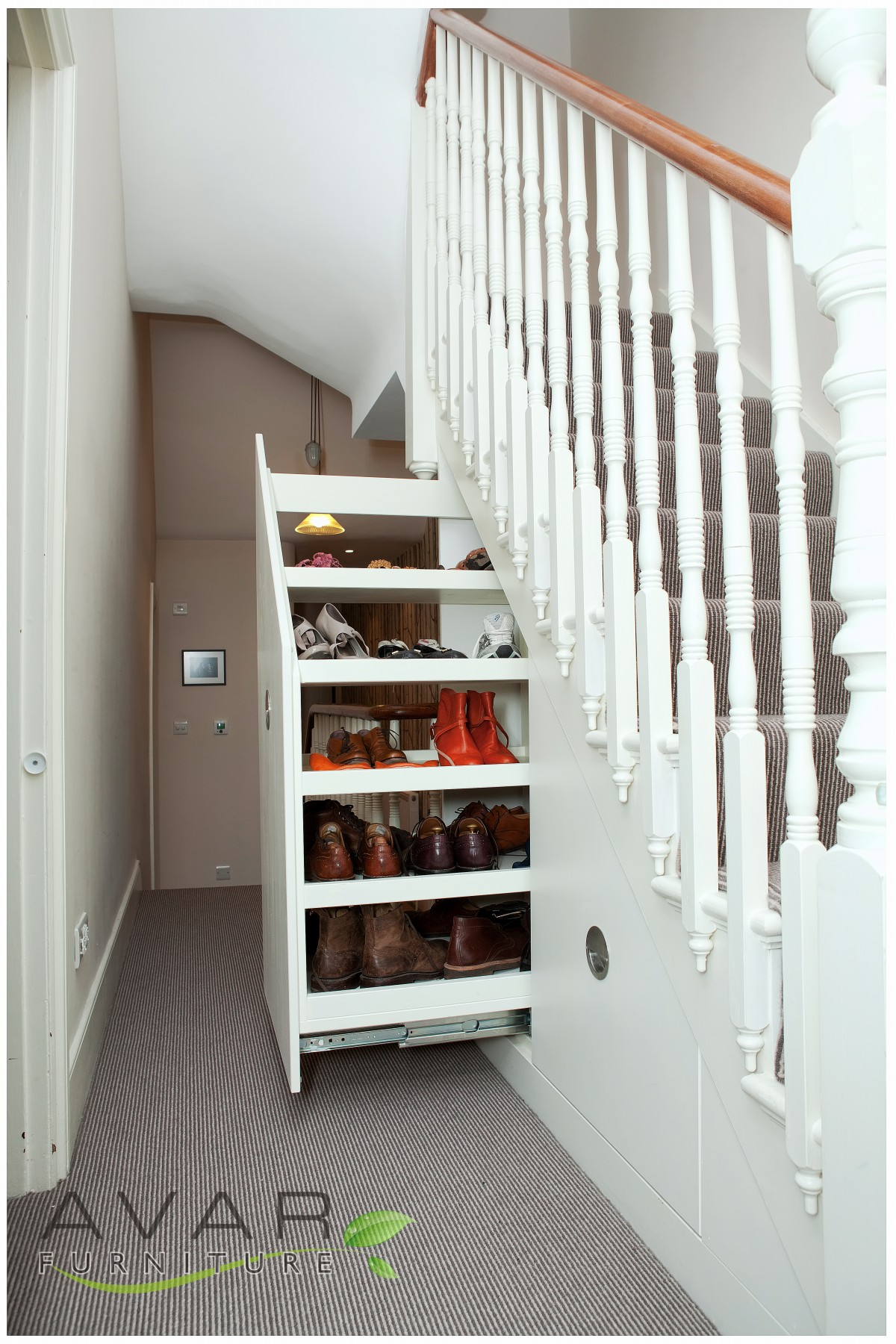 clever     under stairs storage ideas   gallery 14north london