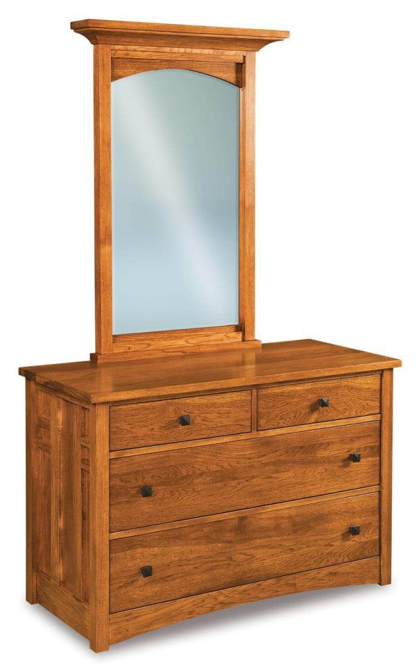 Collection Alpine Small Dresser With Mirror Countryside Amish Furniture Medium