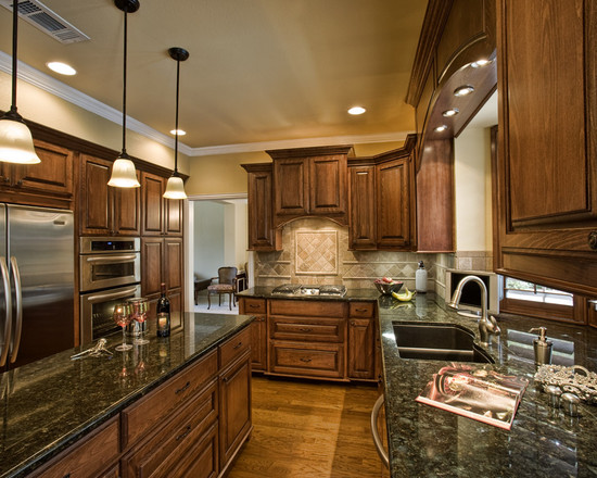 Collection Cabinets Exciting Traditional Kitchen Burnished Walnut Medium