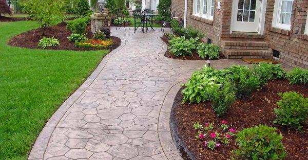 Collection Concrete Sidewalk Design Decorative Options For A Medium