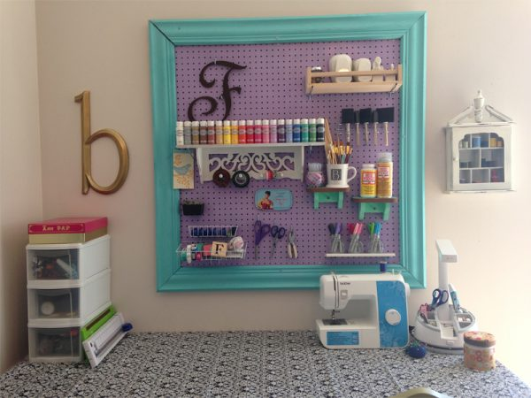 Collection Craft Room Organization With A Framed Pegboardsouthern Medium
