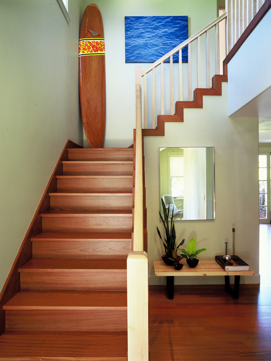 Collection Design   Decorating Cozy Brazilian Cherry Stairs And Medium