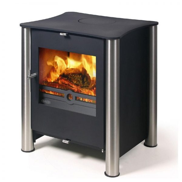 Collection Fast Deliveryesse 525 Multifuel   Woodburning Stove Medium