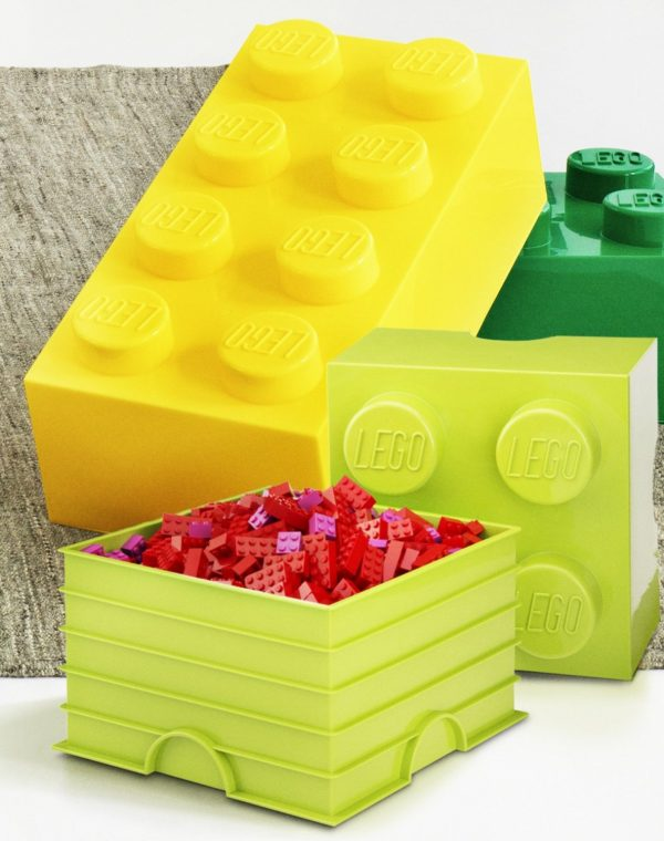 Collection Furniture Interesting Green And Yellow Lego Storage Cube Medium