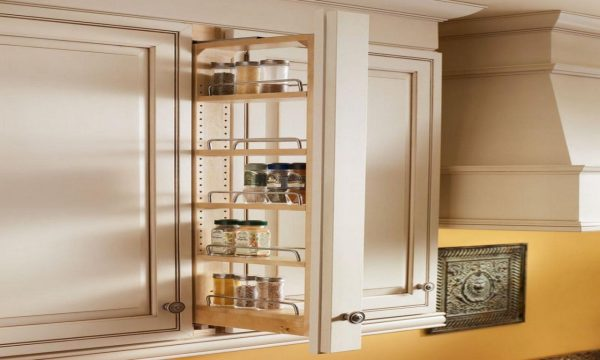 Collection Kitchen Shelf Storage Racks Upper Cabinet Pull Out Spice Medium