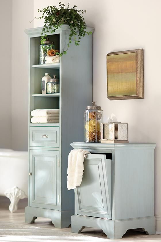 Collection Linen Cabinet With Hamper  Roselawnlutheran Medium