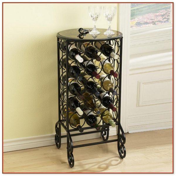 Collection Metal Floor Standing Wine Racks Medium
