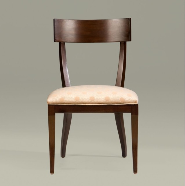 collection modern glamour klismos side chair traditionaldiningchairs