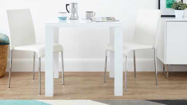 Collection Modern Square White High Gloss Table4 Seateruk Medium