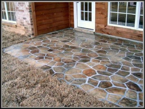Collection Outside Patio Flooring Diy Concrete Patio Ideas Concrete Medium