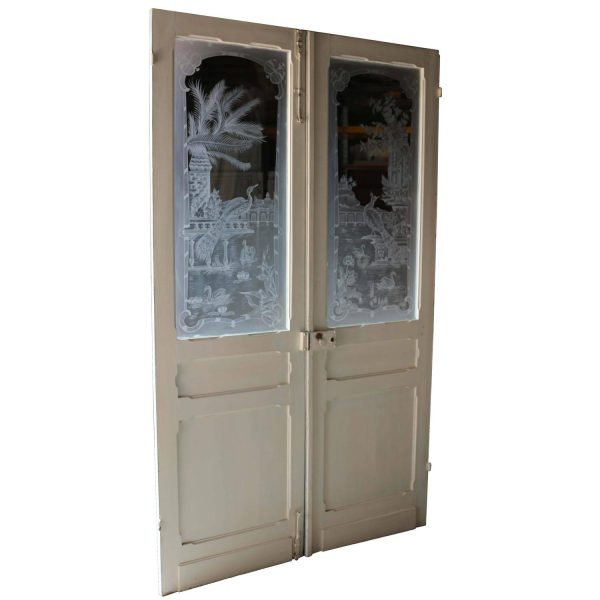 Collection Pair Of Antique French Etched Glass Doors At 1stdibs Medium