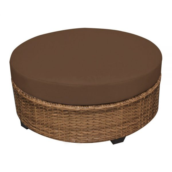 Collection Round Wicker Ottoman For Your Living Room Home Furniture Medium