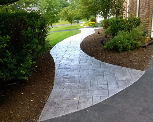 Collection Stamped Concrete Walkwayhouzz Medium