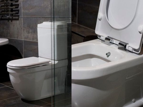 Collection Toilet And Bidet Combination In Modern Bathroom Medium