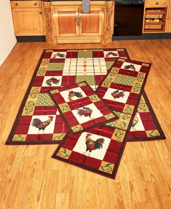 Collection Unique Kitchen Coffee Bean Mug Cup Accent Runner Area Rug Medium