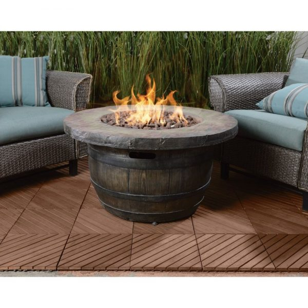 Collection Vineyard Outdoor Propane Fire Table 50000 Btu Yard Patio Medium