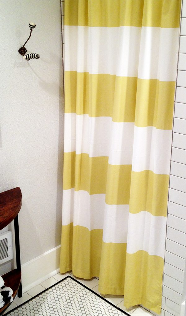 Collection Yellow Striped Shower Curtainfurniture Ideas Medium