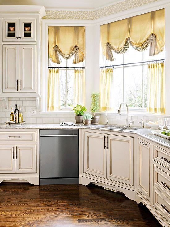 Creative 19 Inspiring Kitchen Window Curtainsmostbeautifulthings Medium