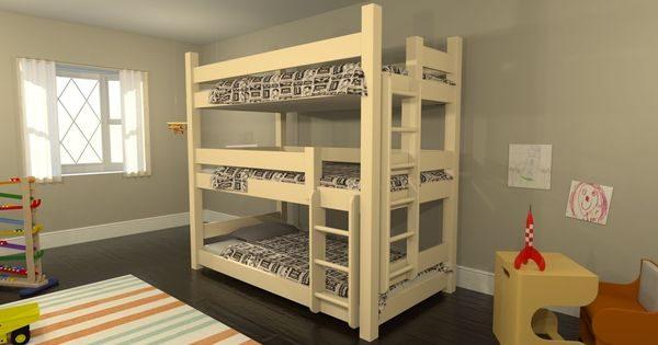 Creative 3 Level Bunk Bedsdesign Ideas Using Your Own Design Medium