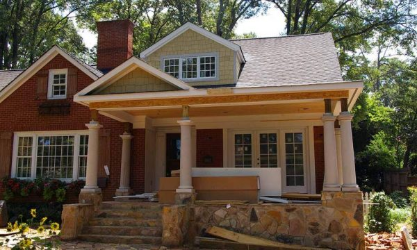 Creative Adding A Front Porch To Home  Bistrodre Porch And Medium