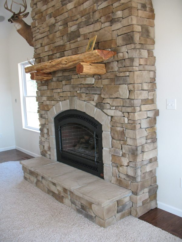 Creative Amazing Gas Fireplace With Stone Surround Pictures Design Medium