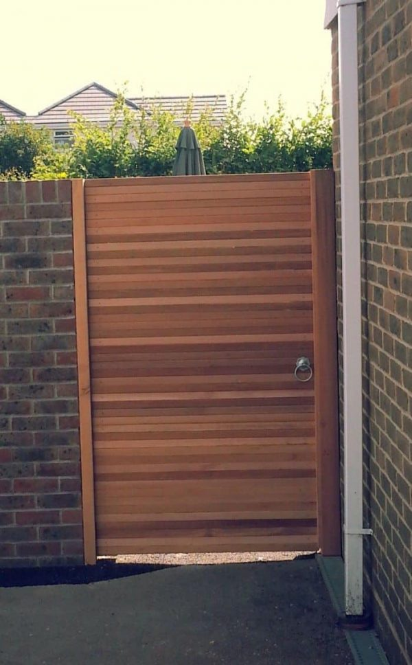 Creative An Outdoor Wooden Gate Can Add A Charmwearefound Home Medium