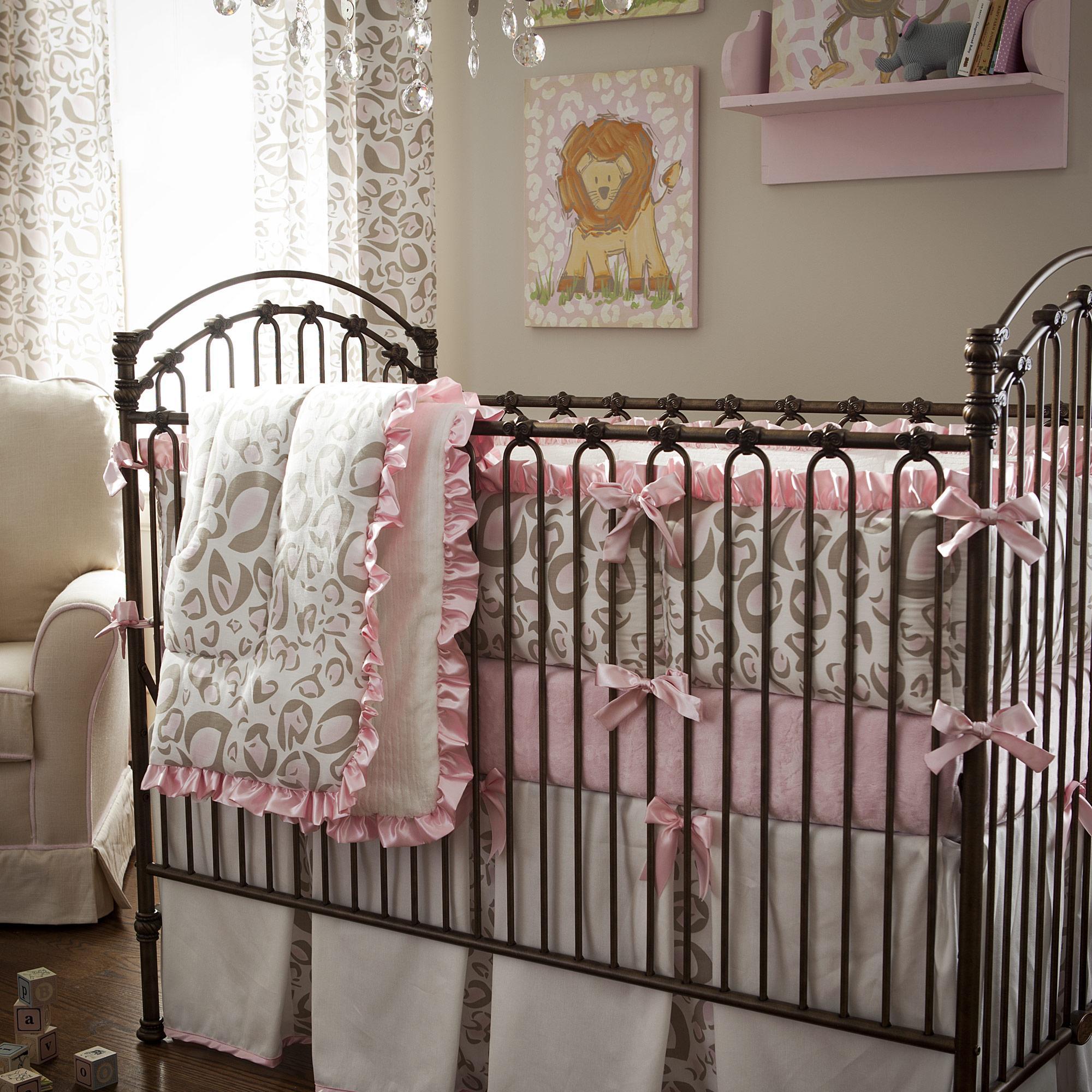 creative baby girl crib bedding sets cheetah animal safari