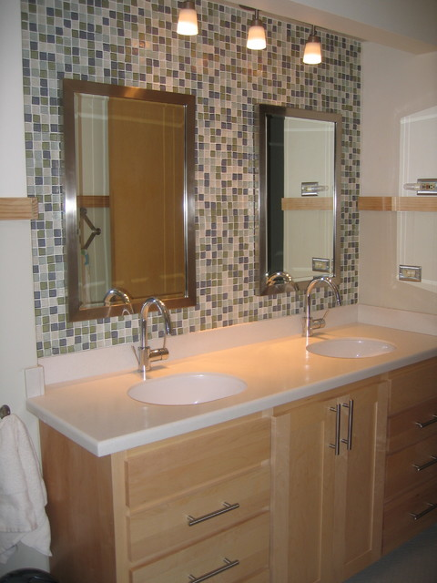 Creative Bathroom Recycled Glass Tile Medium