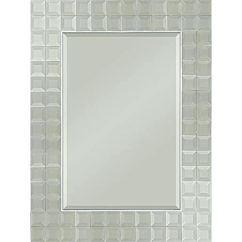 Creative Beveled Rectangular Mirror Modern Stainless Steel Medium
