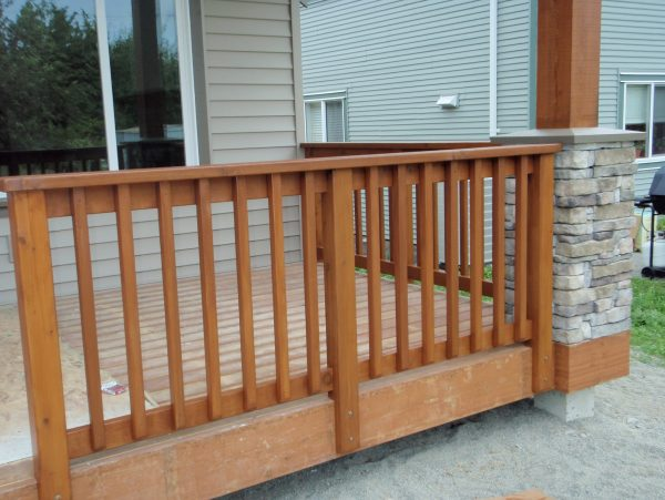 Creative Cedar Porch Railing Designs Medium