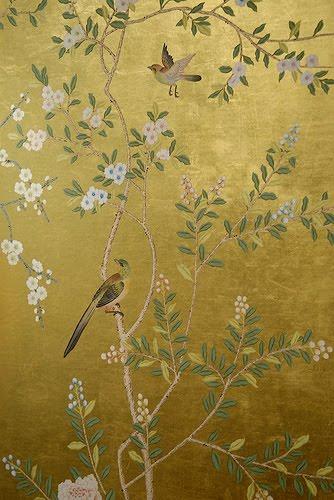 Creative Chloe Van Paris De Gournay Hand Painted Wallpaper Medium