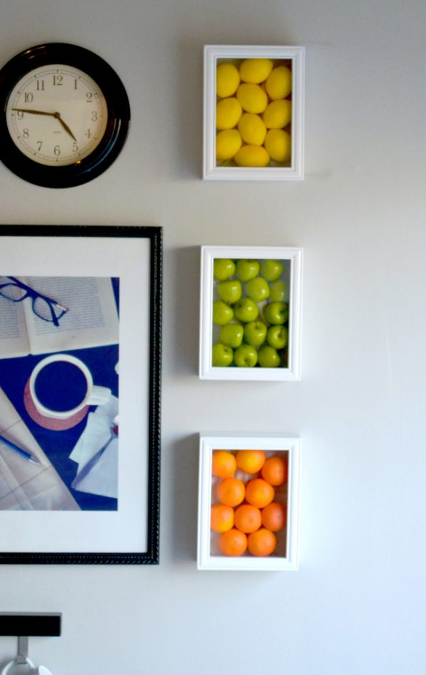 Creative Colorful Kitchen Wall Art With Fake Fruits Medium