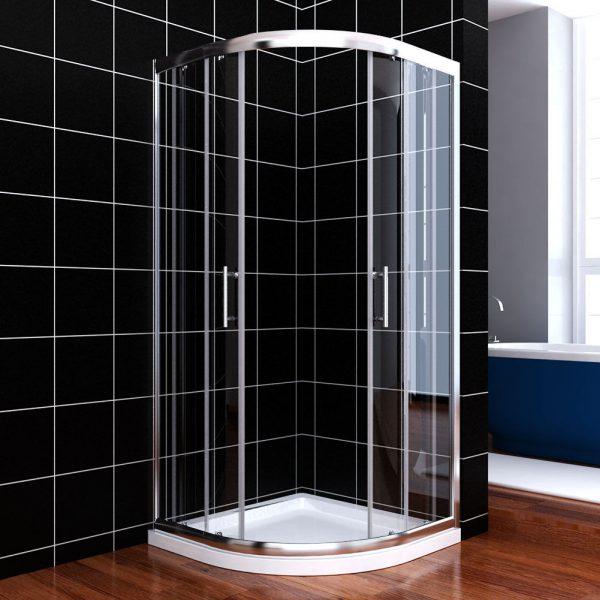 Creative Corner Neo Round Sliding Shower Door Clear Glass Chrome Medium