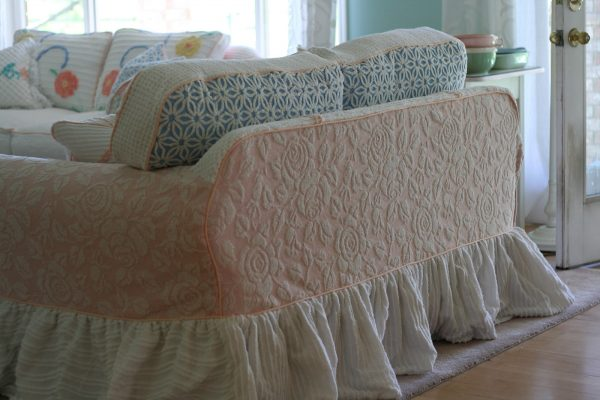 Creative Custom Slipcovers By Shelley Vintage Chenille Bedspread Medium
