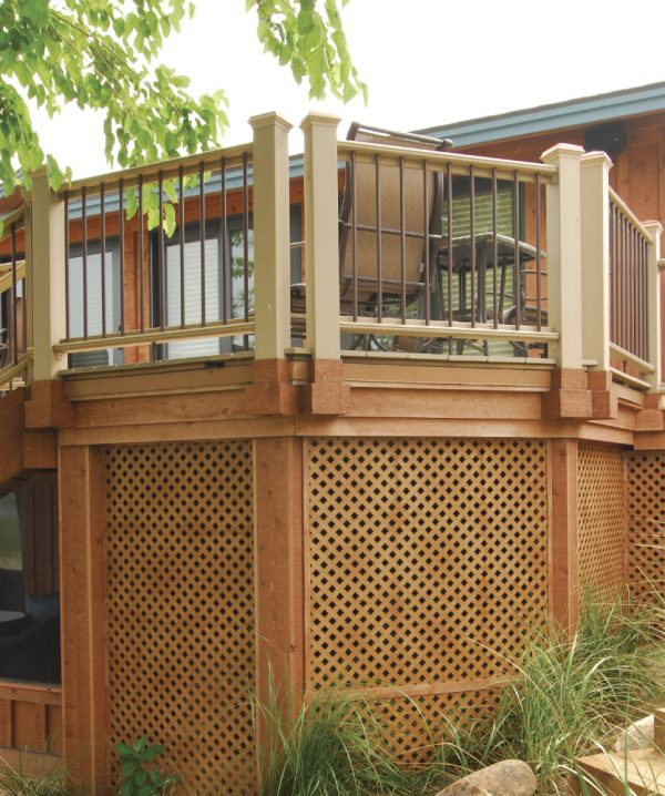 Creative Deck Lattice Framedeck Design And Ideas Medium