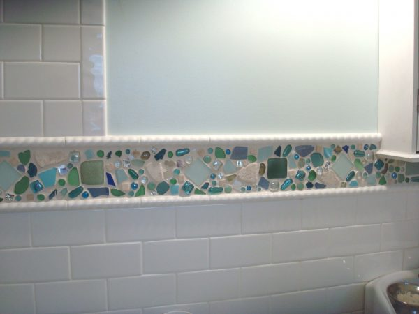 Creative Decorating Ideas Epic Blue Green Mosaic Beach Glass Tile Medium