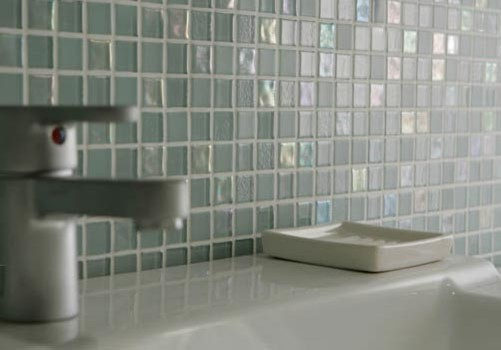 Creative Dewdrops Recycled Glass Tile Modern Bathroom By