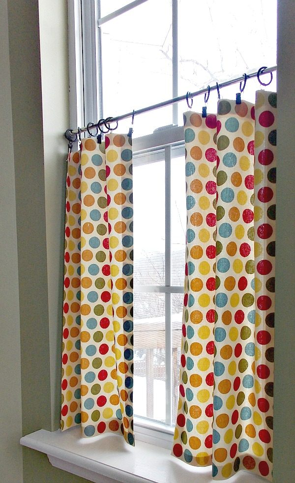 Creative Diy No Sew Cafe Curtains Sweet Parrish Place Medium