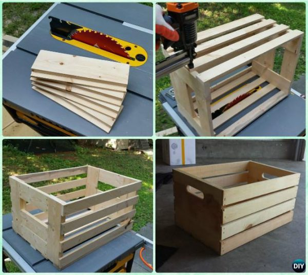 Creative Diy Wood Crate Coffee Table Free Plans  Picture Instructions Medium